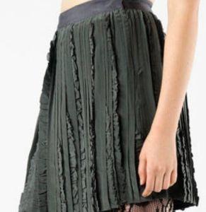 Dark gray Rebecca Taylor skirt with ruffles